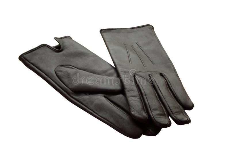 Percorso di residuo della potatura meccanica dei guanti di cuoio di accoppiamenti fotografie stock