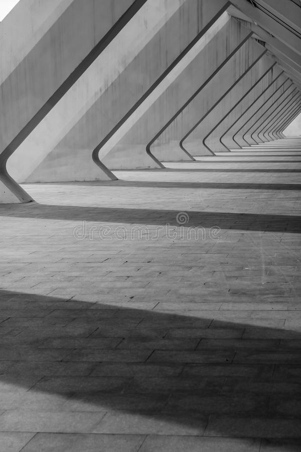 Percorso di Valencia City di arte e di scienza fotografia stock libera da diritti