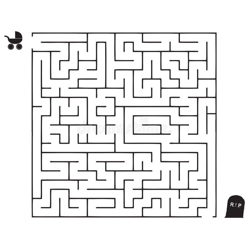 Percorso di vita dei labirinti illustrazione di stock