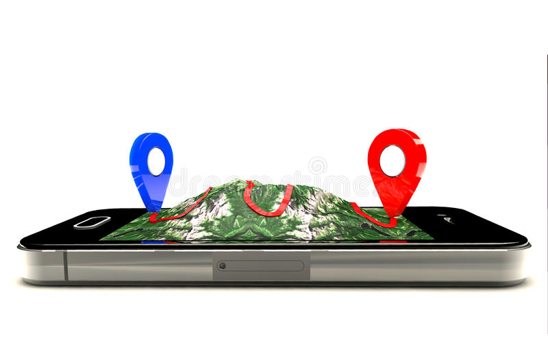 Percorso mobile di GPS royalty illustrazione gratis