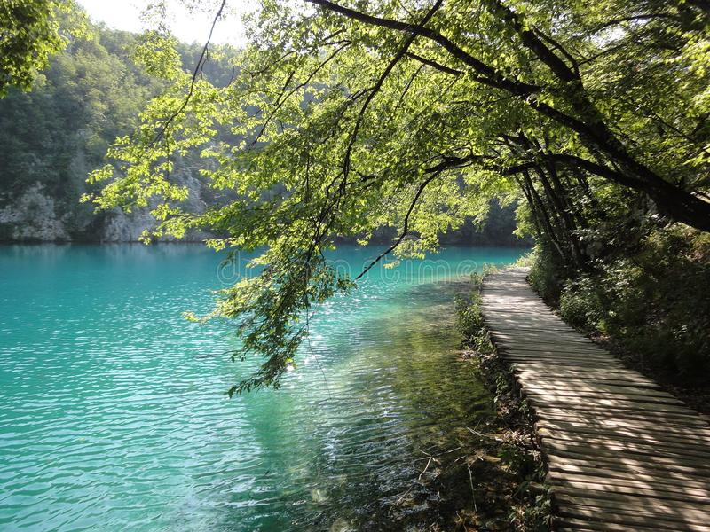 Percorso a Plitvice fotografie stock