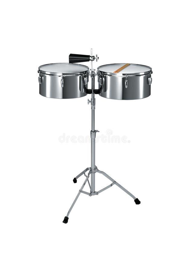 Percussão Timbales imagem de stock royalty free