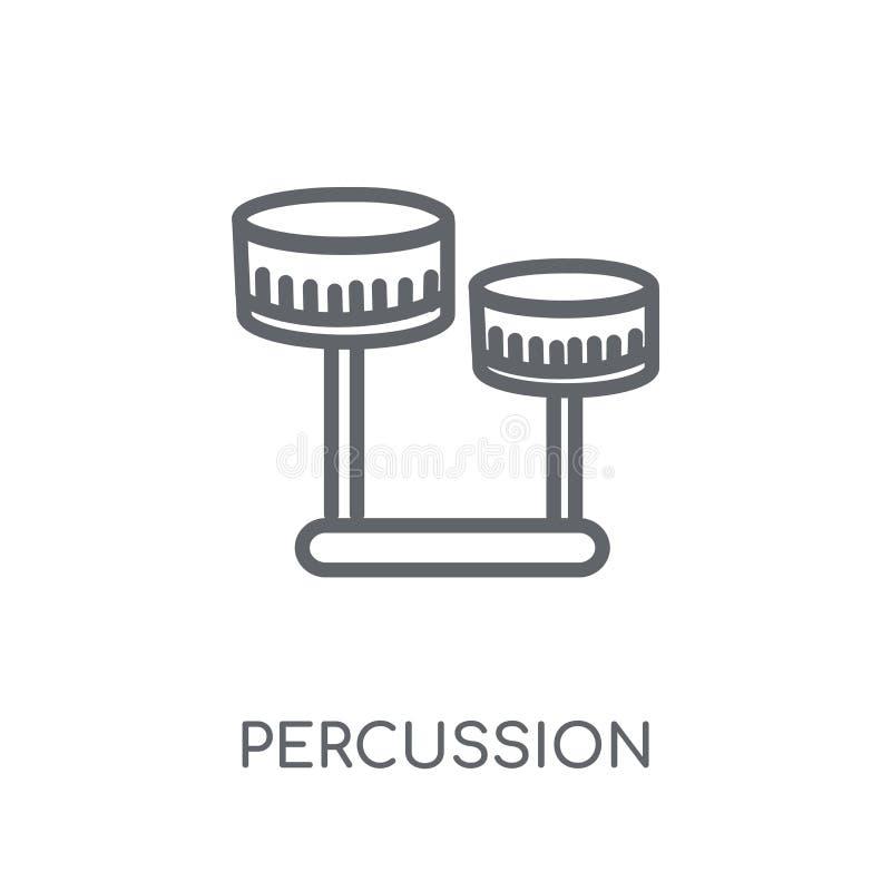 Percussie lineair pictogram Modern het embleemconcept o van de overzichtspercussie royalty-vrije illustratie