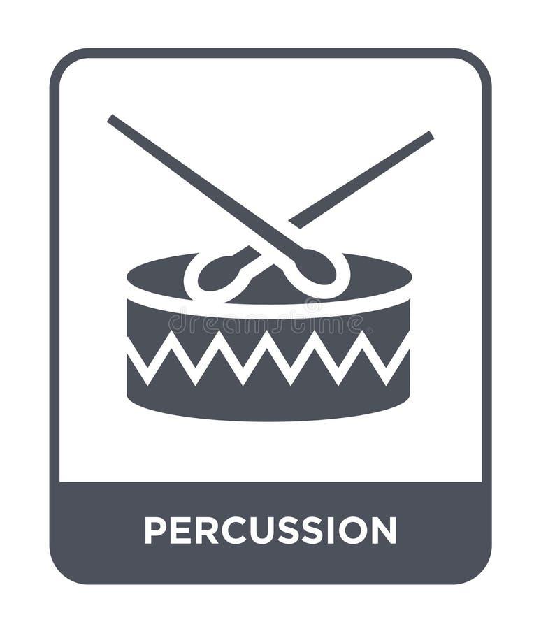 percussiepictogram in in ontwerpstijl percussiepictogram op witte achtergrond wordt geïsoleerd die eenvoudig en modern percussie  stock illustratie