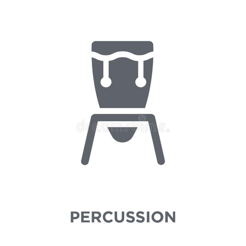 Percussiepictogram van Muziekinzameling stock illustratie