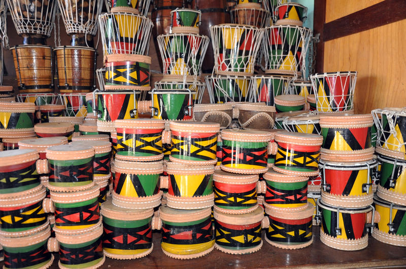 Percussion. Instruments made from Cabaça plant royalty free stock image