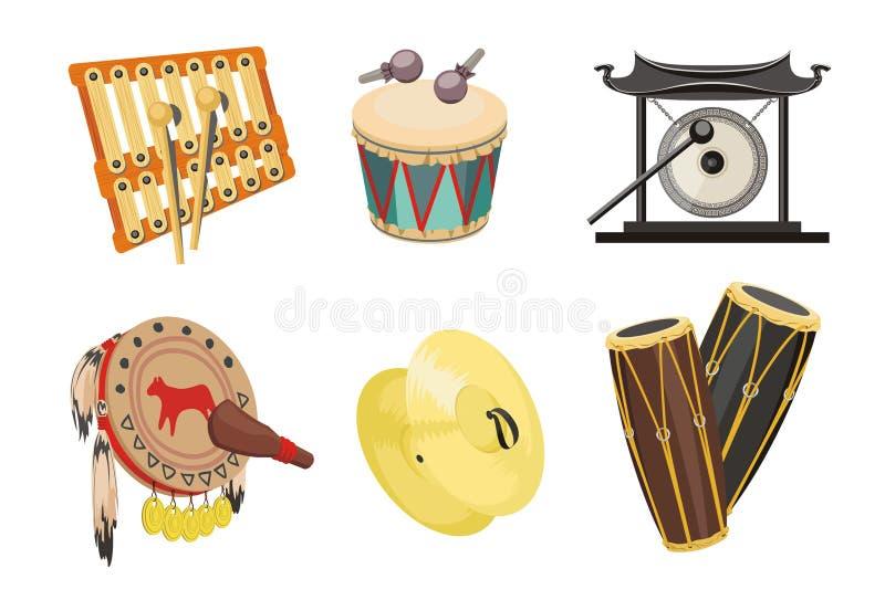 Percussion illustration stock