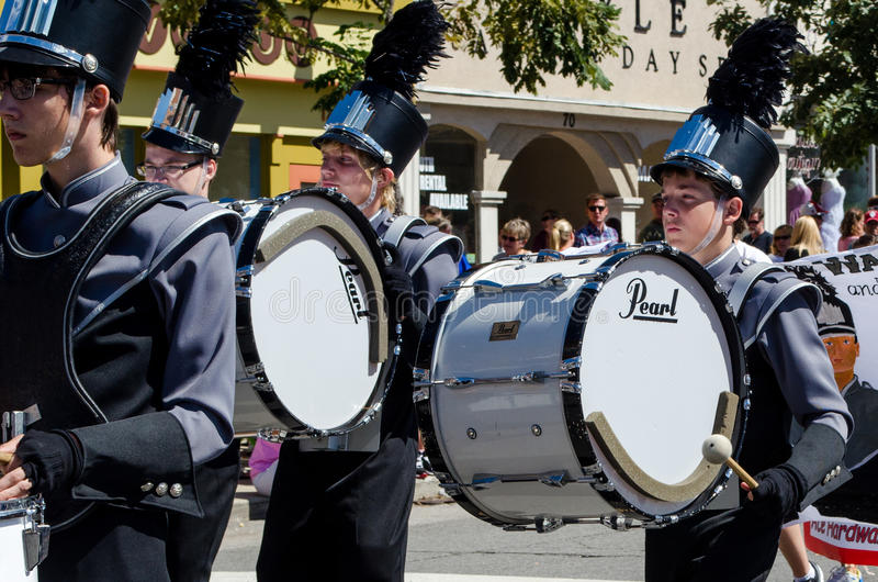 Marching band and drums stock image