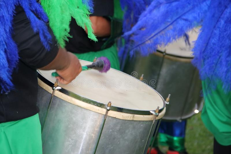 Carnival percussion royalty free stock image