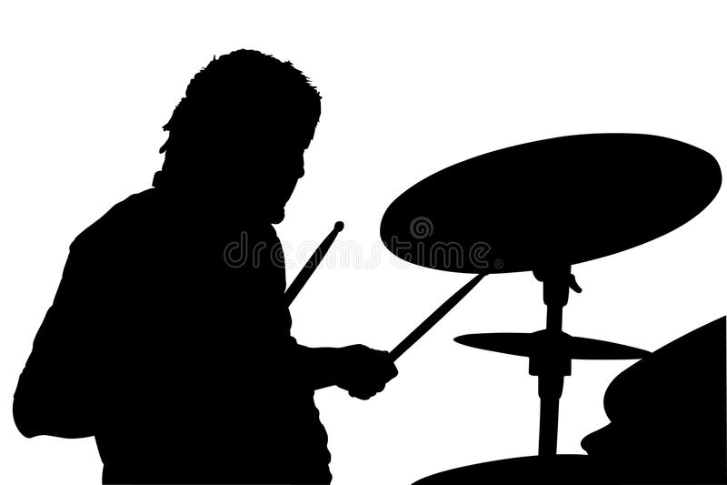 Percussionist ilustração royalty free