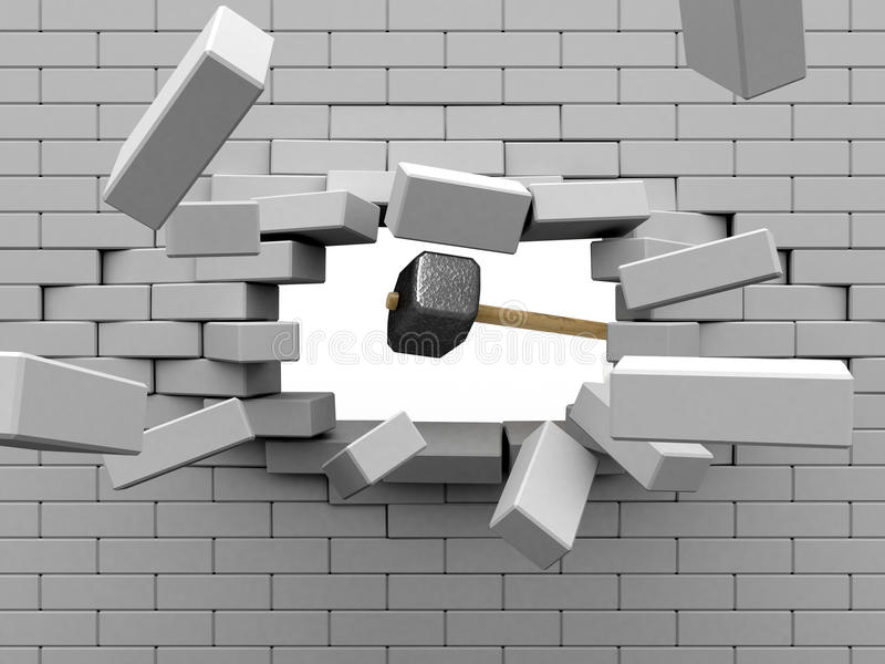 Percussive power. stock illustration