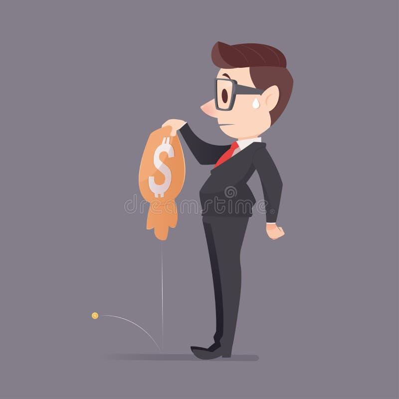 Perd l'argent illustration de vecteur