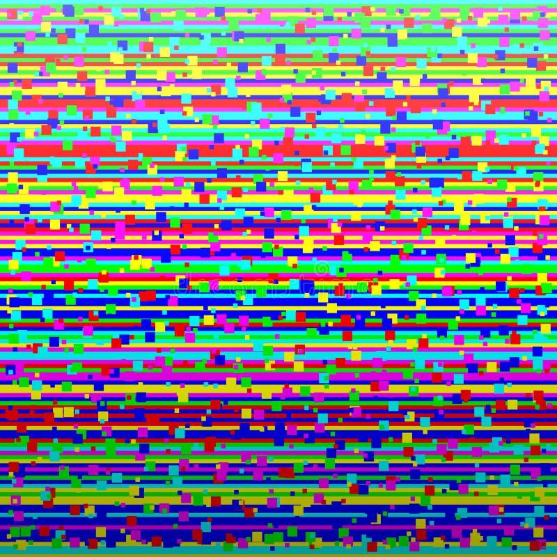 A perda do sinal da televisão corrompeu a imagem Fundo abstrato colorido ilustração do vetor