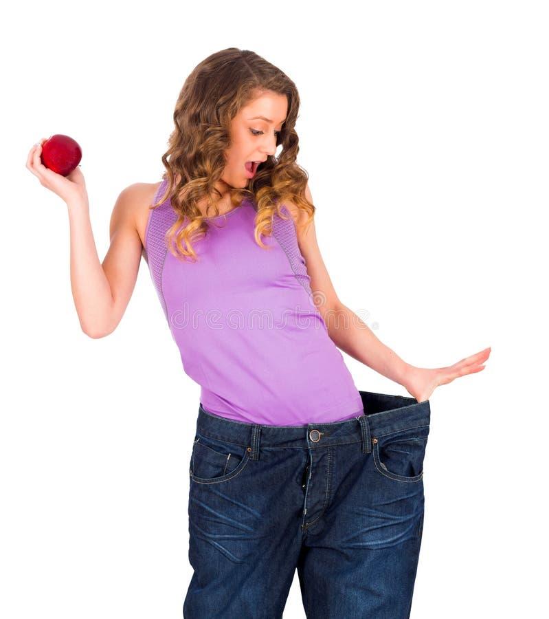 Perda il peso Fastly e facilmente con nutrizione sana immagini stock