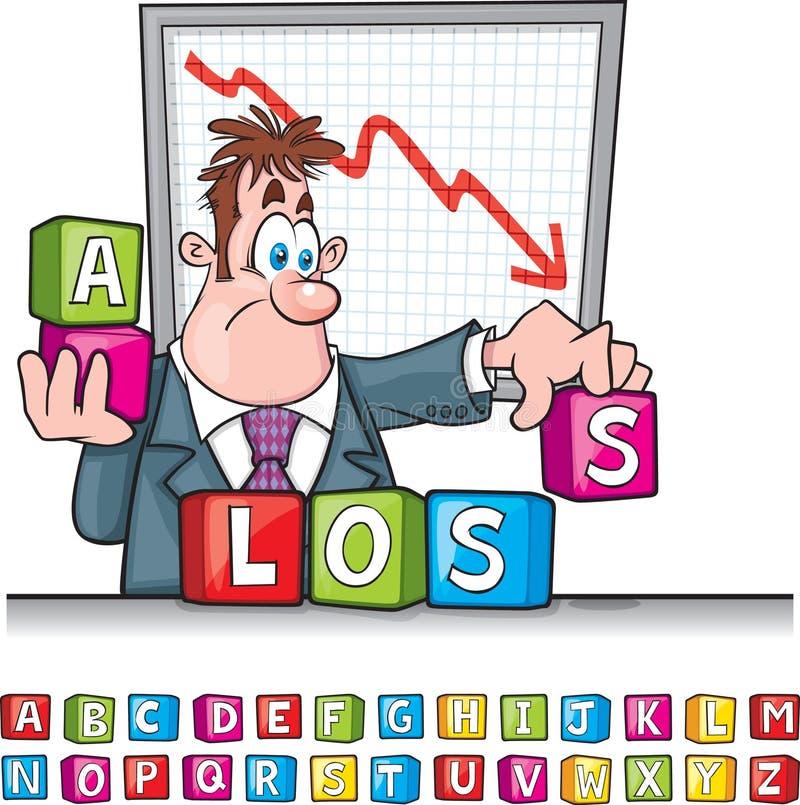 A perda obstrui desenhos animados ilustração royalty free