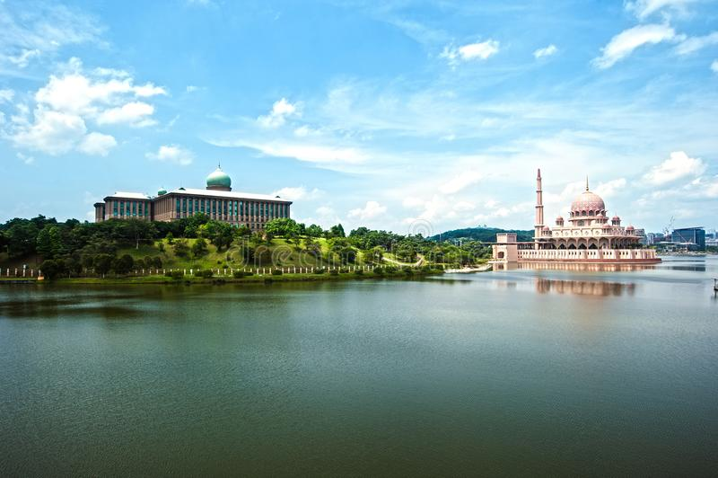 Perdana Putra Building & Putra Mosque stock image