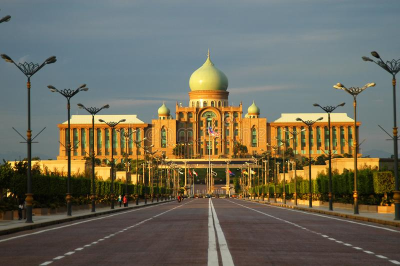 Perdana Putra @ Putra Jaya. The Perdana Putra is a building in Putrajaya, Malaysia which houses the office complex of the Prime Minister of Malaysia. Located on royalty free stock photos