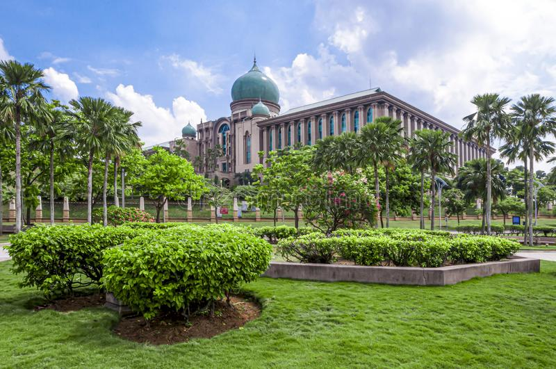 Perdana Putra, Malaysia prime minister residence in Putrajaya, Malaysia. Massive Perdana Putra is the official administration office of the Malaysian government royalty free stock photo