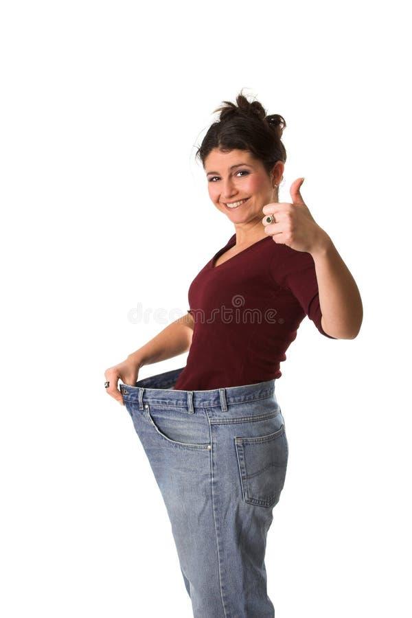 Perdendo o peso imagens de stock