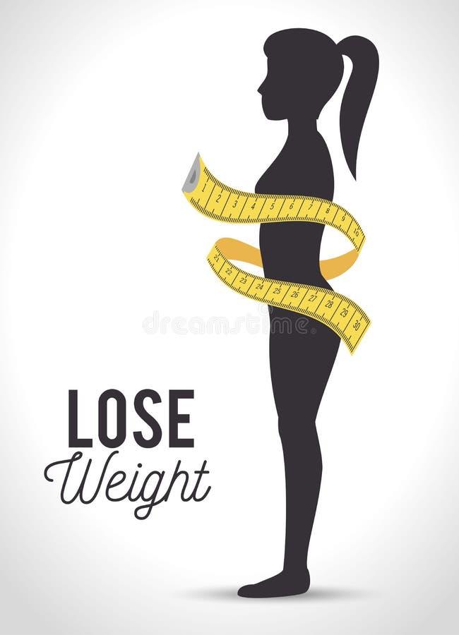 Perdez la conception de poids illustration stock