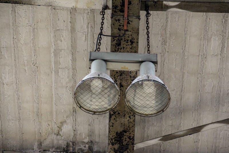 Perdido coloque a garagem da estrada de ferro foto de stock