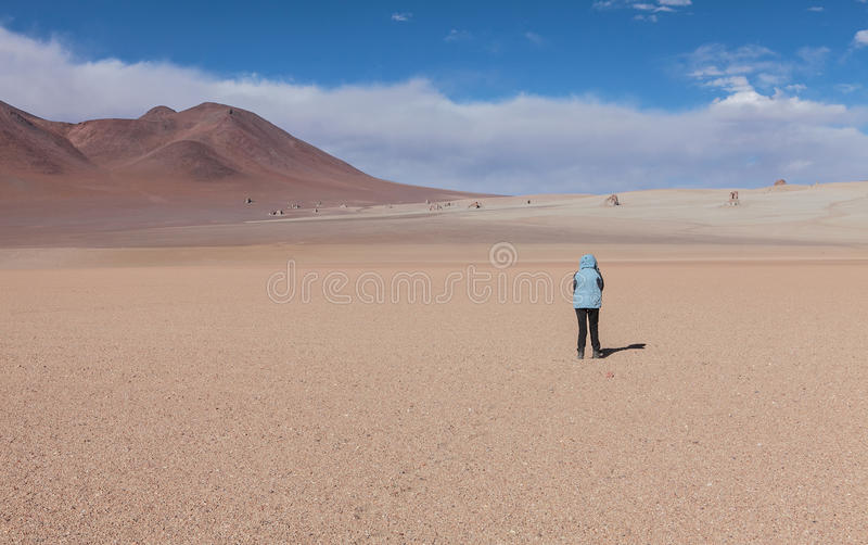 Perdido en el desierto imagen de archivo