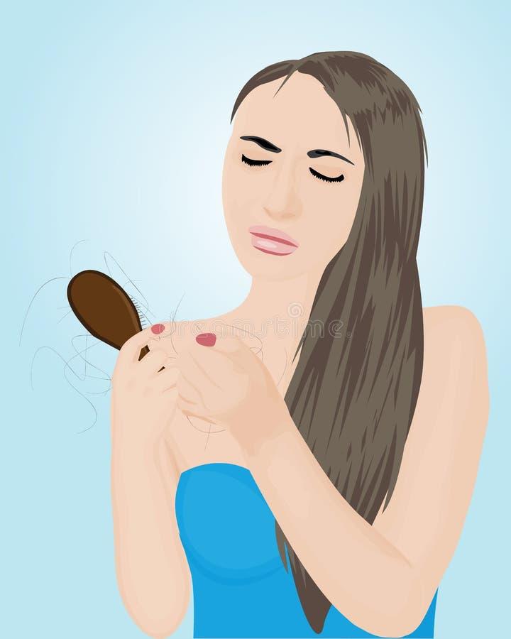 Perdita di capelli Illustrazione di vettore illustrazione di stock