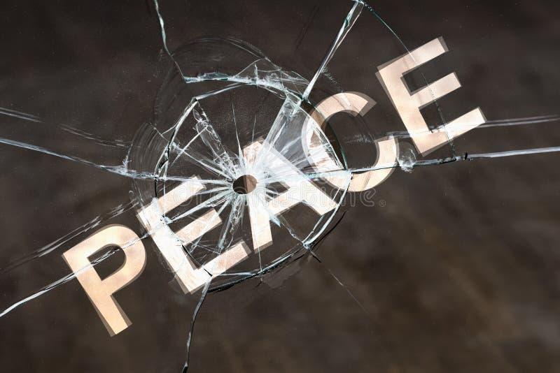 Perdita di pace e l'inizio del concetto di ostilità fotografia stock libera da diritti
