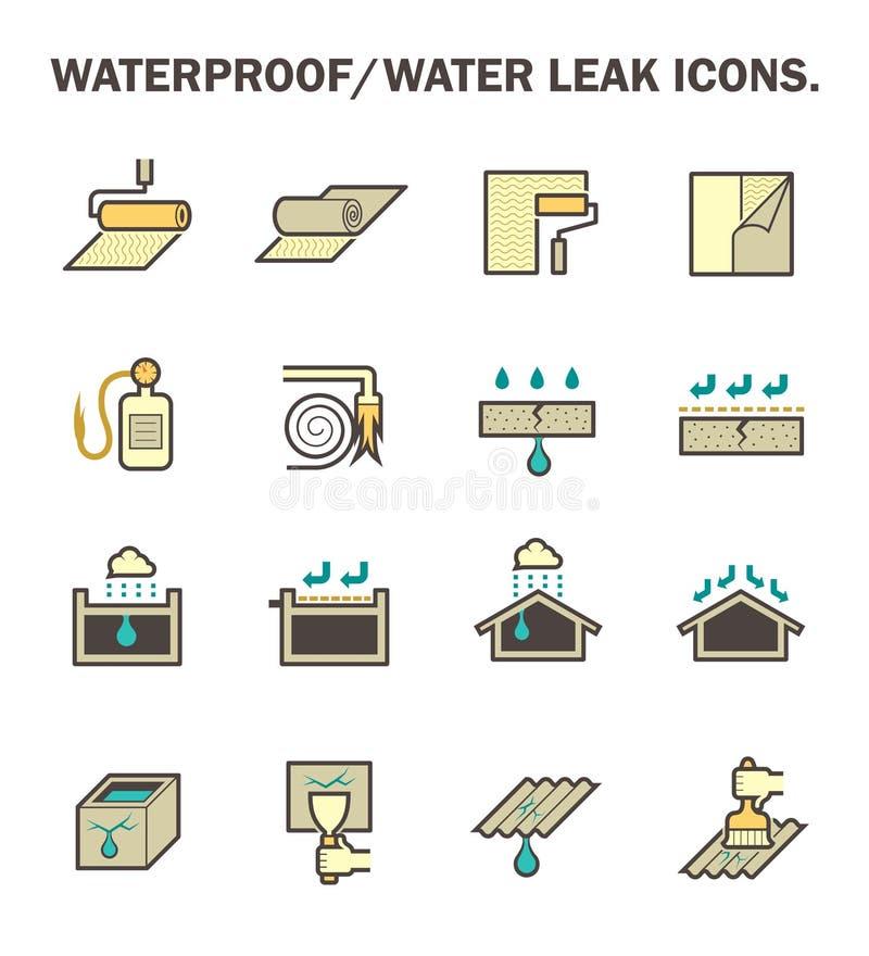 Perdita impermeabile dell'acqua illustrazione vettoriale
