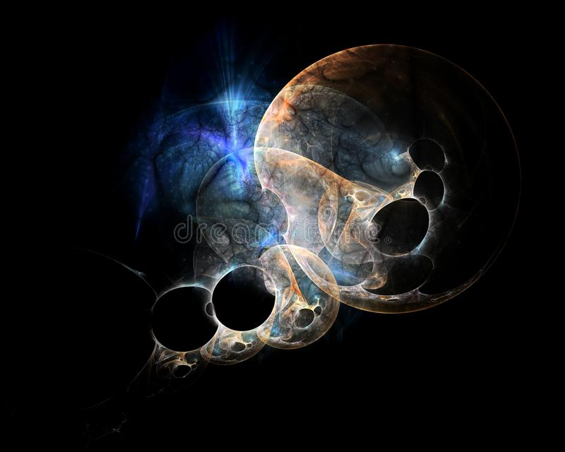 Perdu dans l'espace lointain de fractale illustration de vecteur