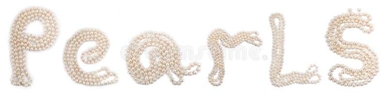 pereł perls ustawiający słowo obraz royalty free