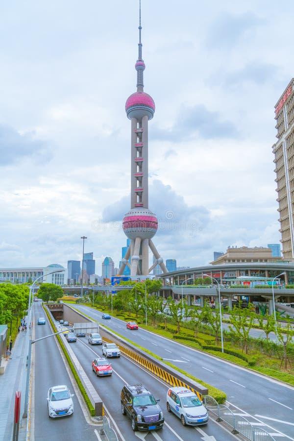 perełkowy Oriental wierza Shanghai zdjęcie stock