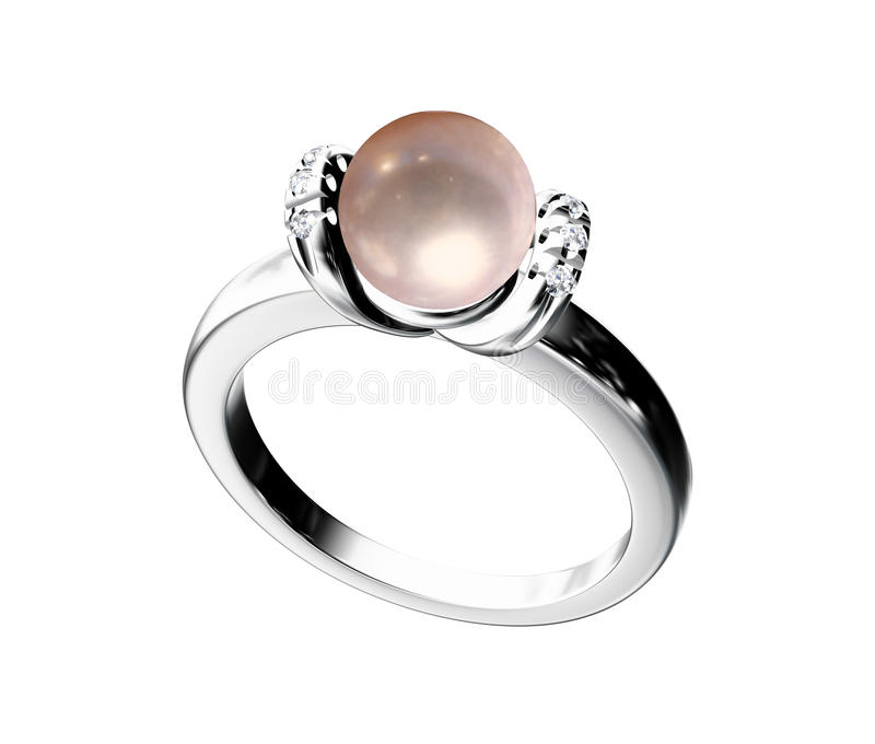 perełkowy pierścionek zdjęcia royalty free