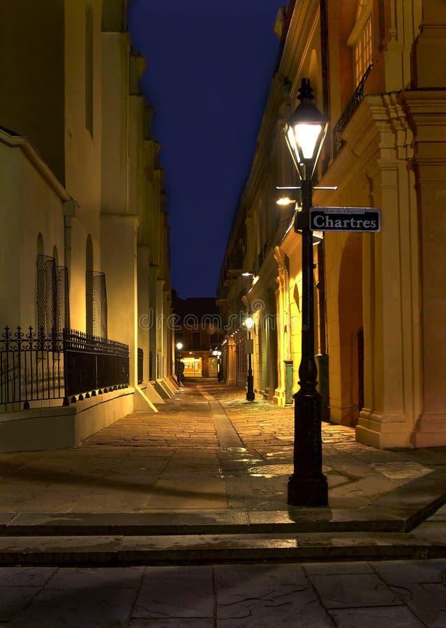 Pere Antoine Alley, i New Orleans French Quarter arkivbilder