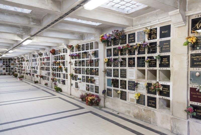 Pere Lachaise公墓在巴黎,法国 免版税库存照片