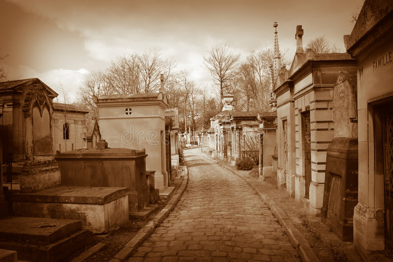 pere lachaise кладбища стоковая фотография rf