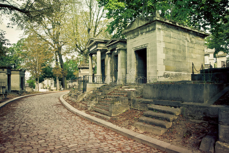 Download Pere Lachaise Cemetery stock photo. Image of graveyard - 24296656