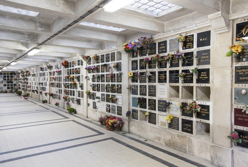 Pere Lachaise Cemetery em Paris, França fotos de stock royalty free