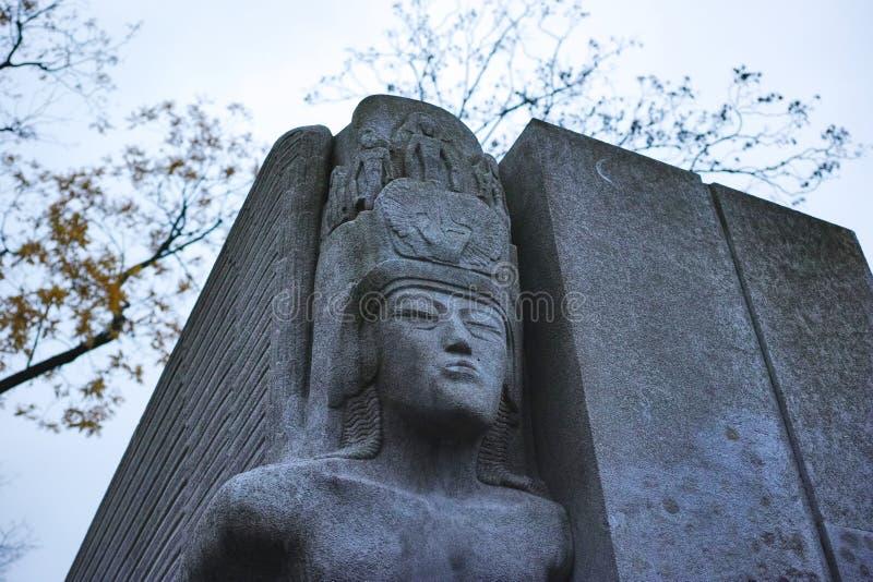 Pere Lachaise Cemetery Paris, Frankrike royaltyfri fotografi