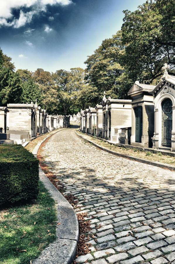 Pere Lachaise cmentarz, Paryż, Francja zdjęcie stock