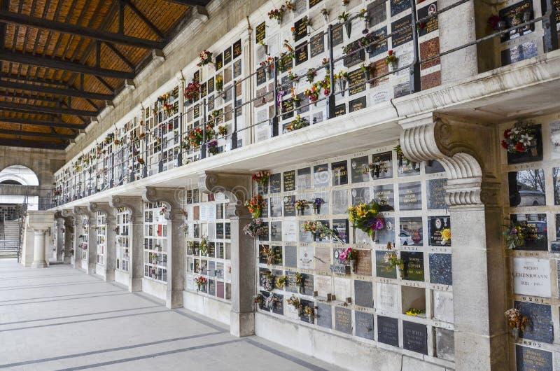 Pere Lachaise cmentarza kolumbarium zdjęcie stock