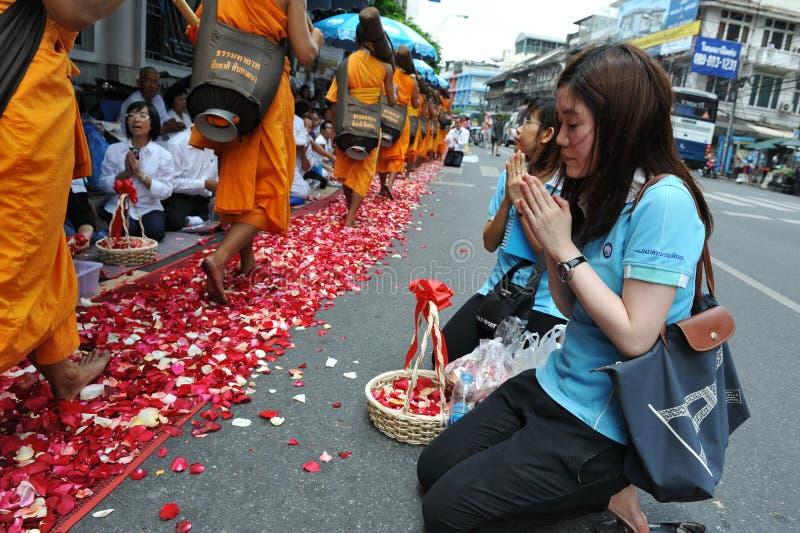 Peregrinação budista imagens de stock royalty free