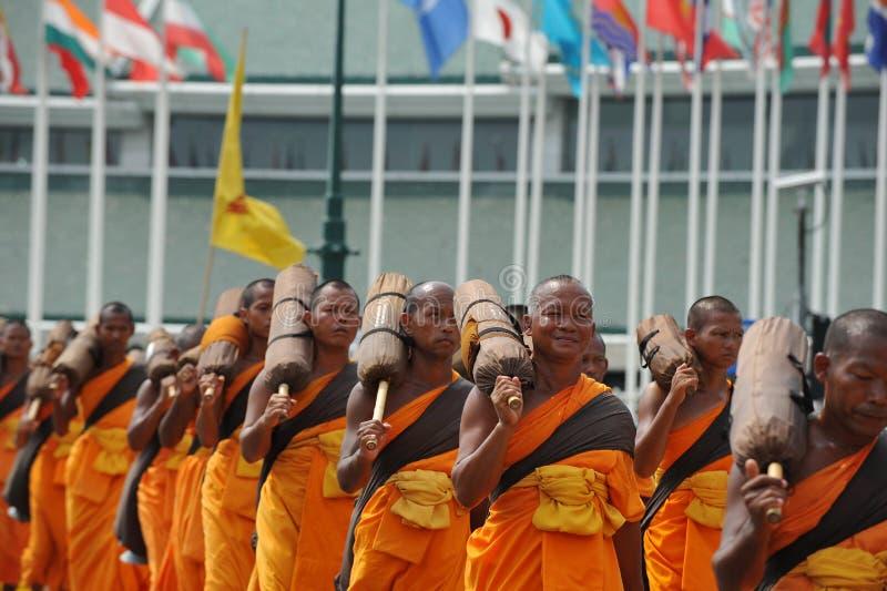 Peregrinação budista fotografia de stock