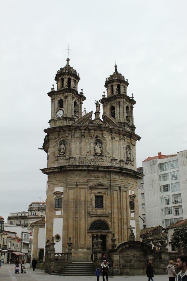 Peregrina kościół w Pontevedra zdjęcie royalty free