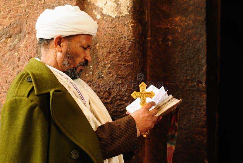 Peregrino etíope en Lalibela imágenes de archivo libres de regalías