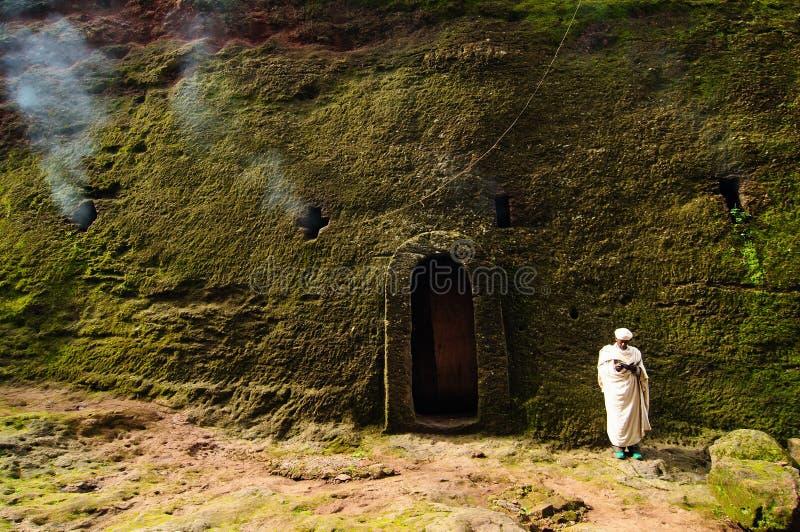 Peregrino etíope en Lalibela fotos de archivo libres de regalías