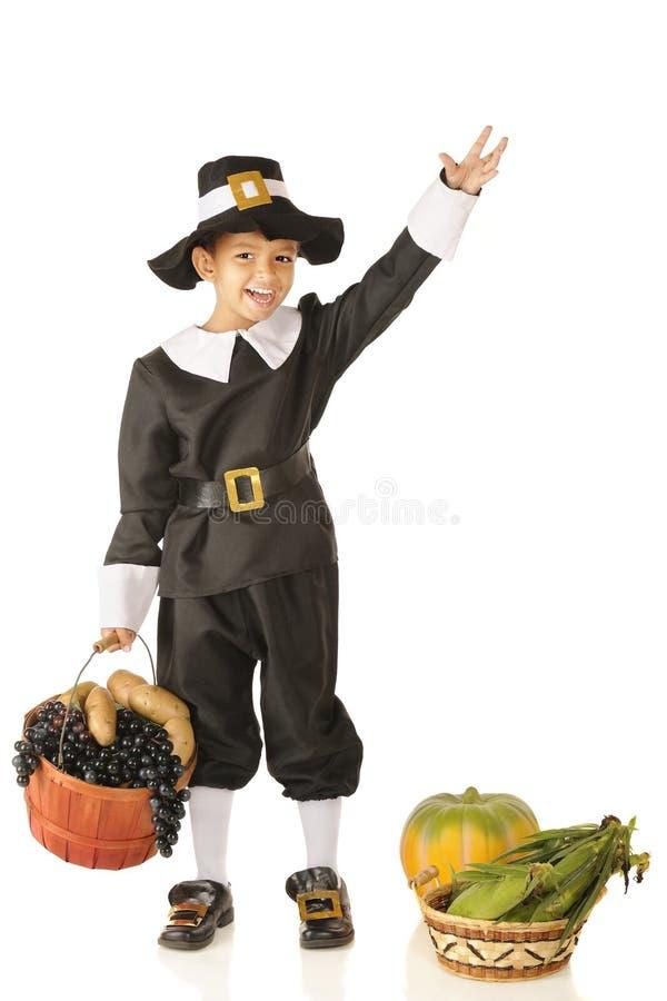 Peregrino joven que agita foto de archivo libre de regalías