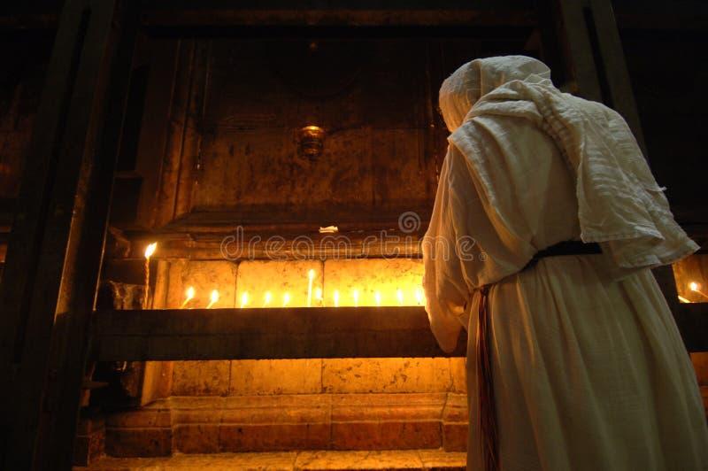 Peregrino que ruega en Jerusalén fotos de archivo libres de regalías