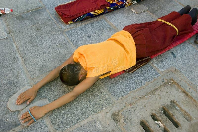 Peregrino tibetano em Lhasa fotos de stock royalty free