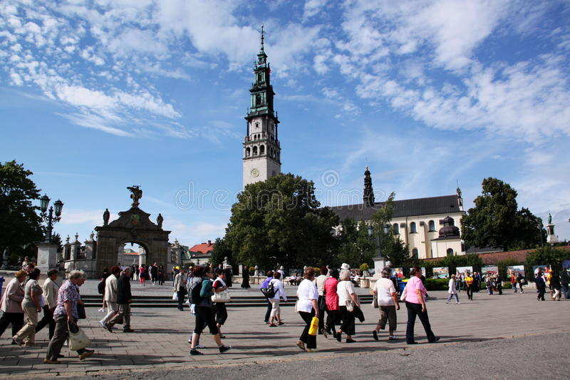 Peregrinos em Czestochowa fotos de stock royalty free
